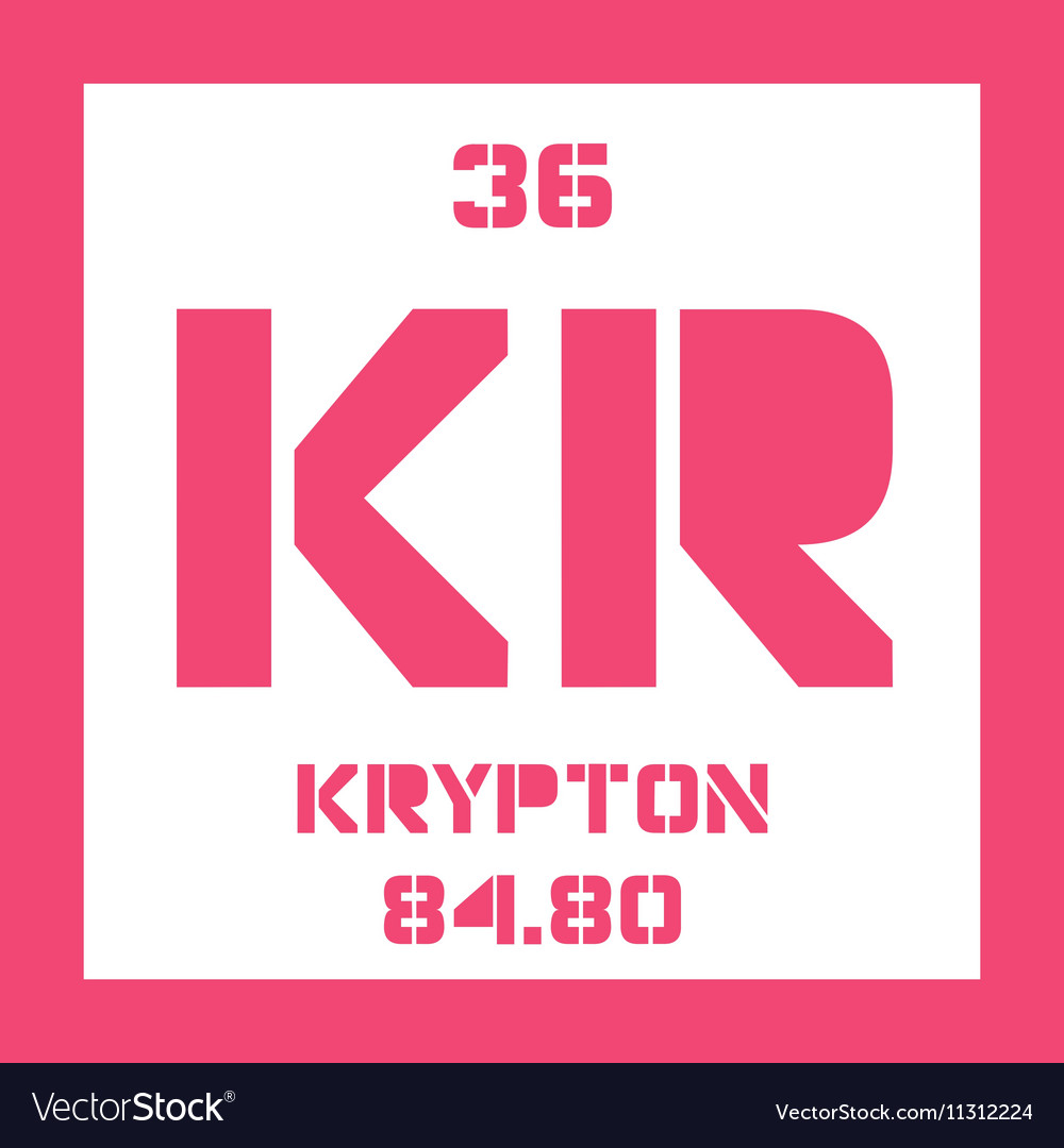 Krypton chemical element royalty free vector image krypton chemical element vector image buycottarizona