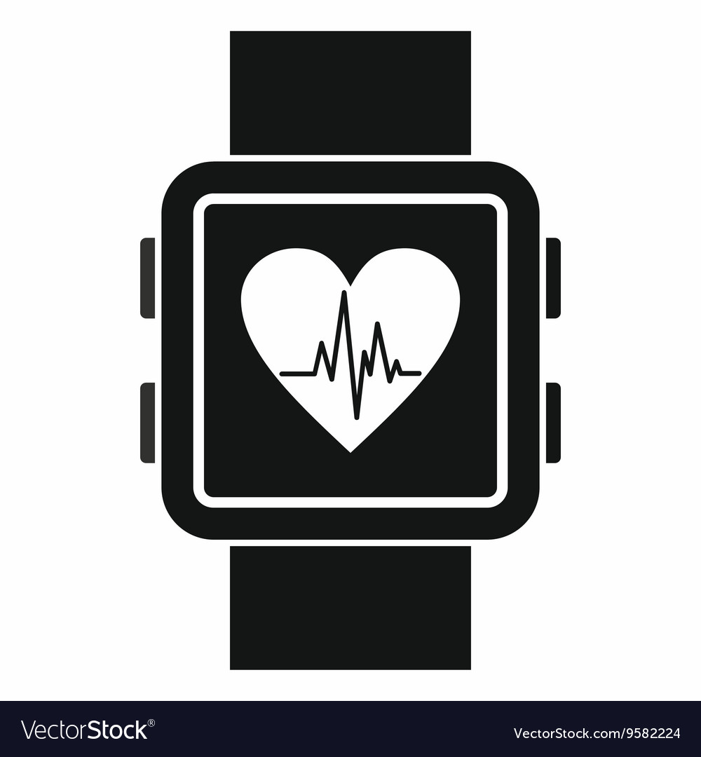 Smartwatch icon simple style vector image