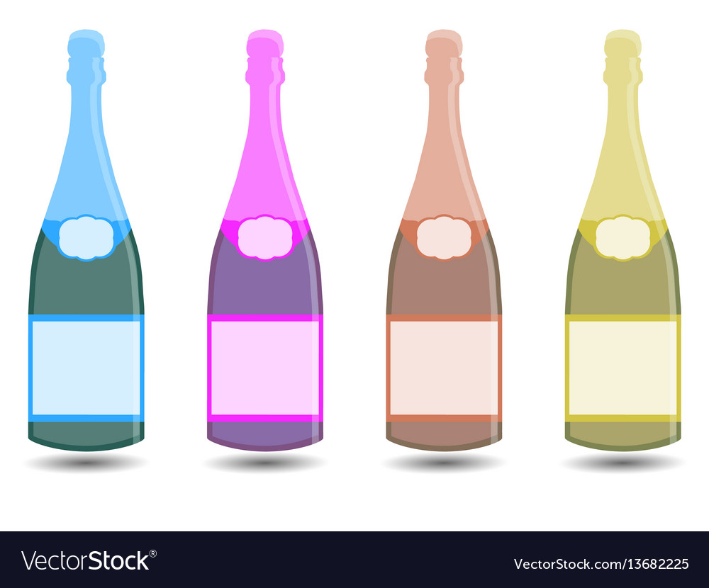 Champagne a bottle of wine vector image