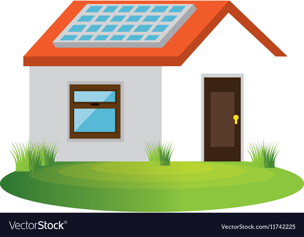 Attractive Ecology House Isolated Icon Vector Image