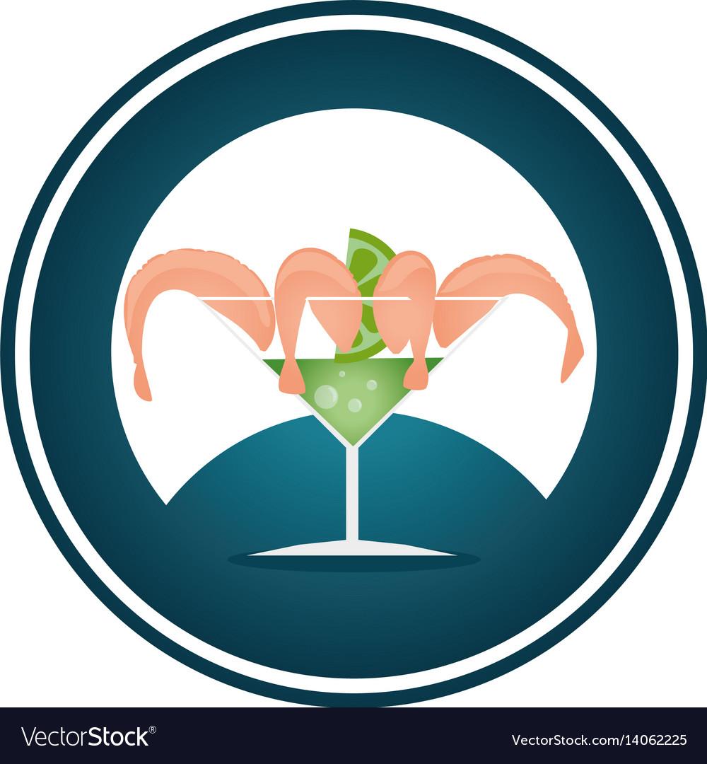 shrimp ceviche sea food royalty free vector image rh vectorstock com Maxican Clip Art Seafood Clip Art