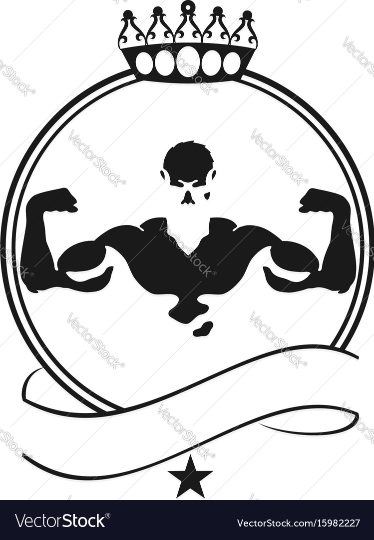 Silhouette for the gym and bodybuilding vector image