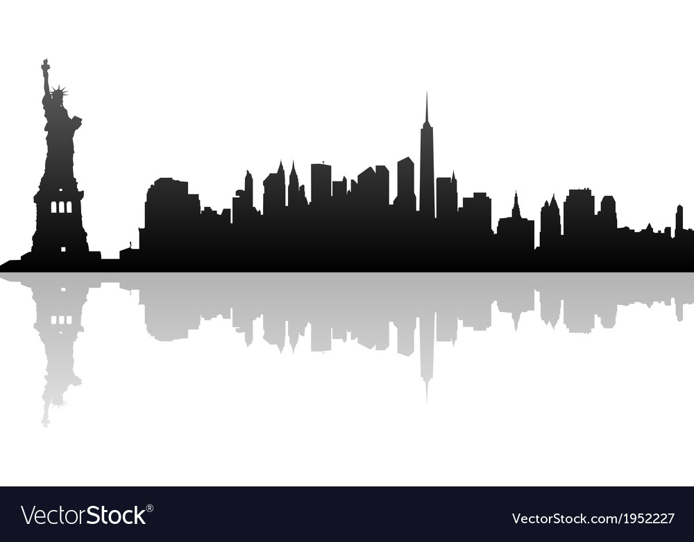 Silhouette of new york vector image