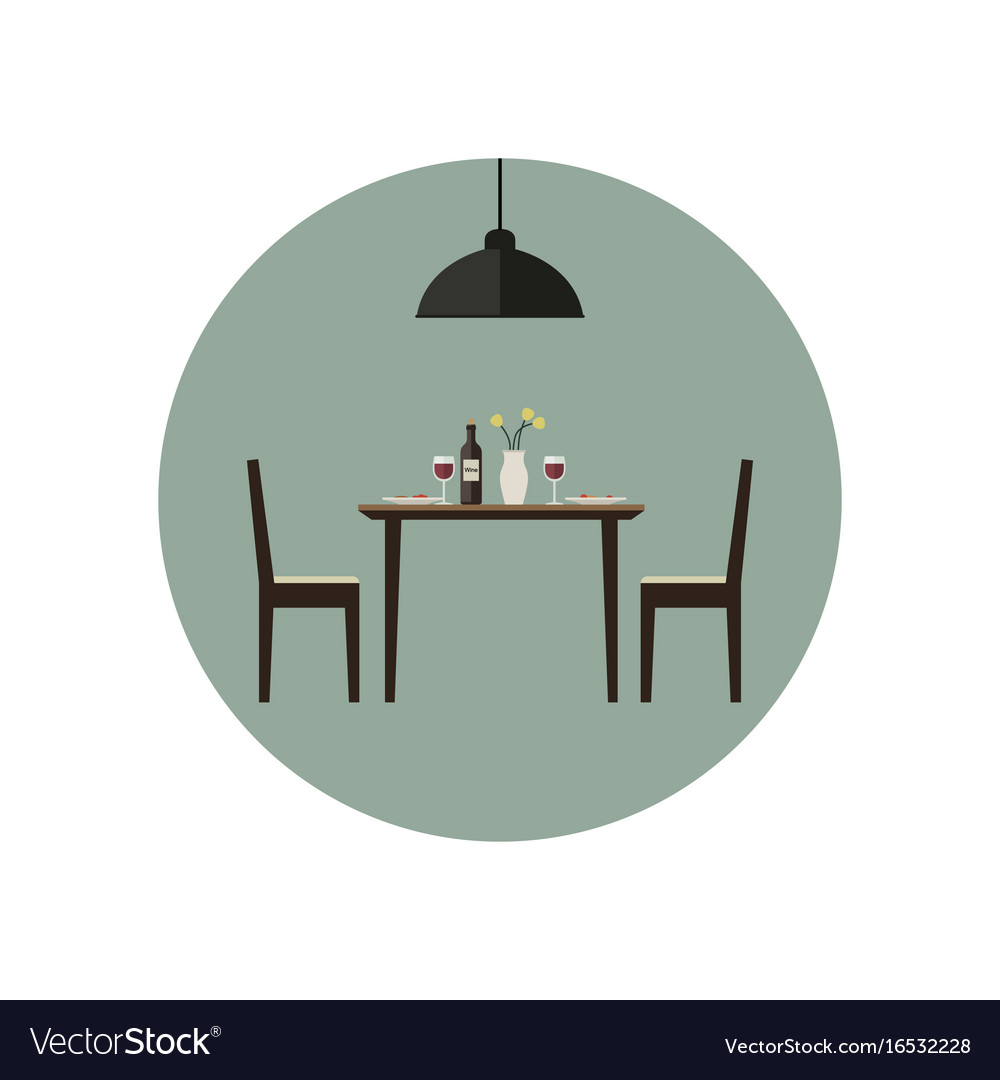 Dining room icon vector image