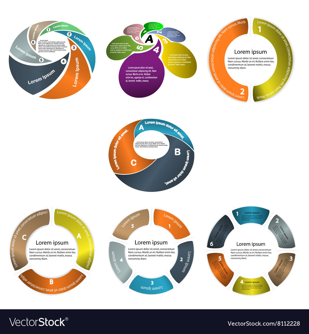 Infographic business presentation template vector image
