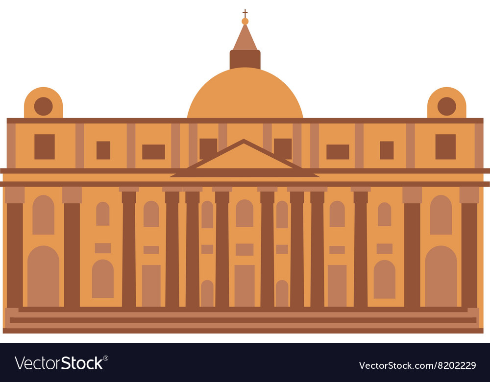 Royal palace at Madrid Spain architecture building vector image
