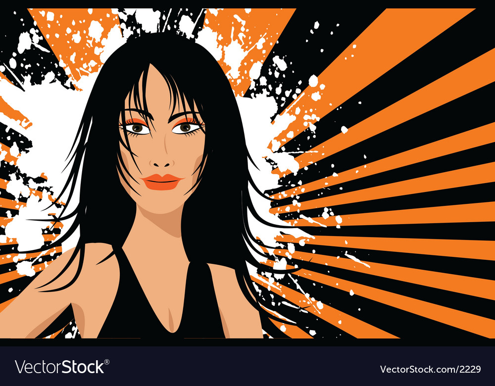 Sexy female vector image