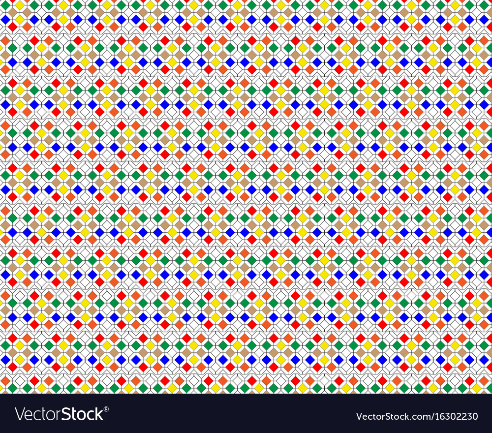 Pattern of different figures vector image
