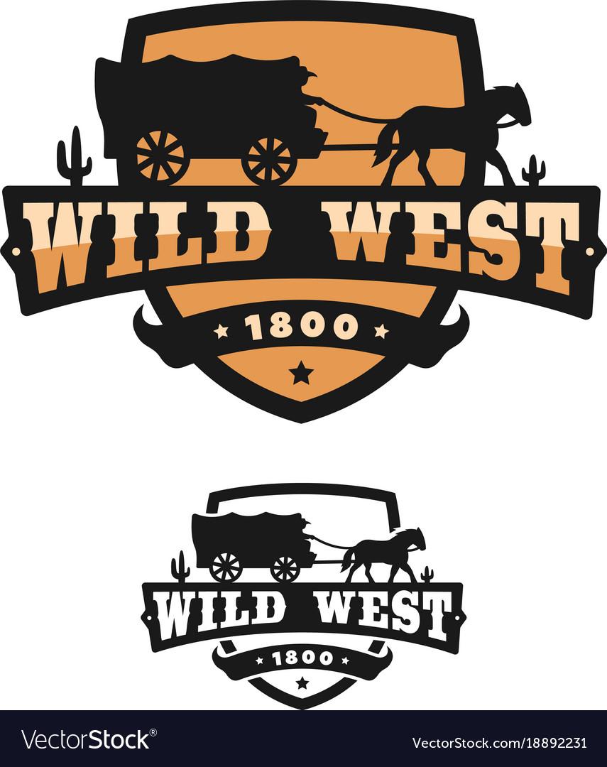 Old wild west logo of emblem vector image
