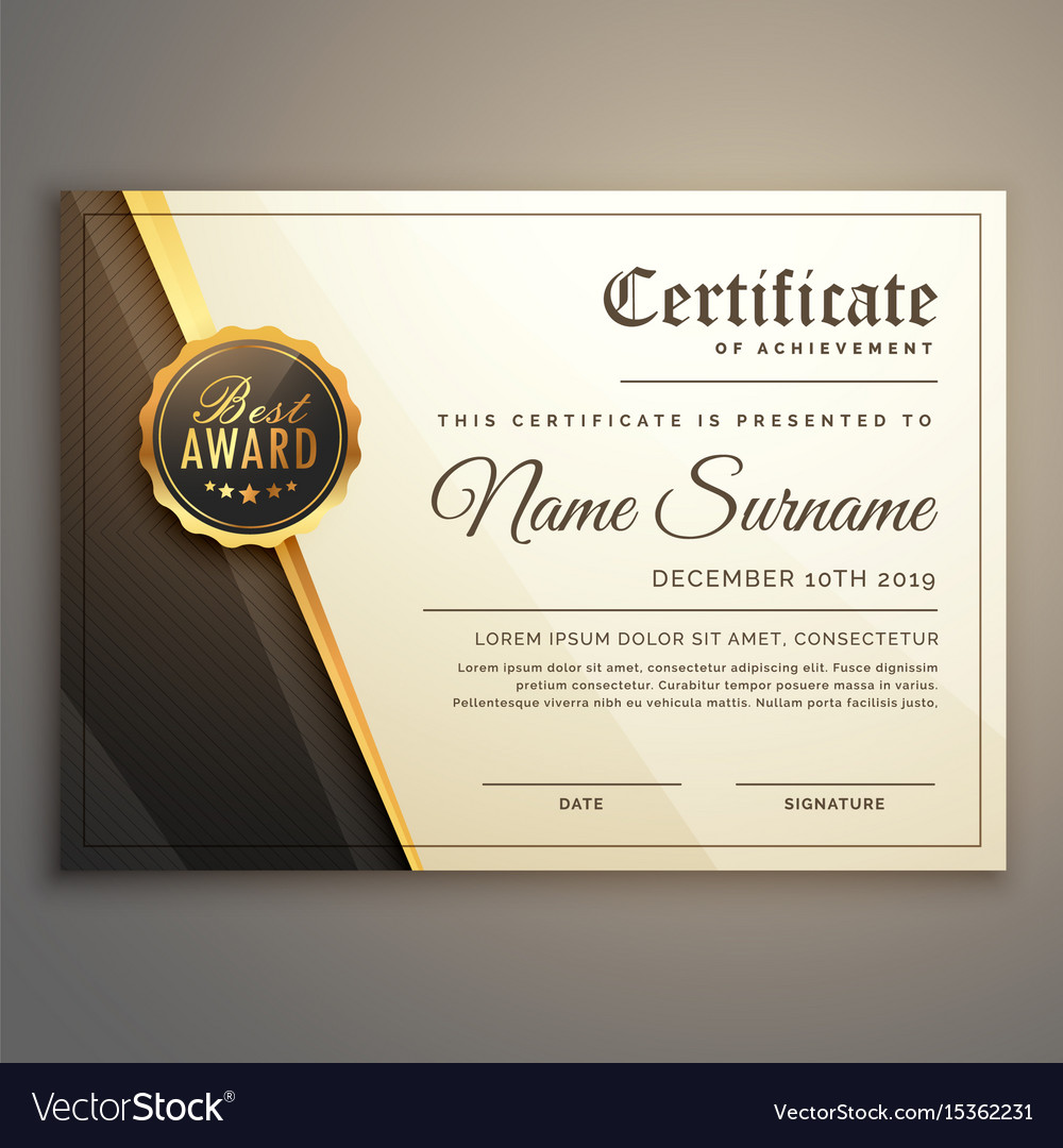 Premium certificate design template royalty free vector premium certificate design template vector image yadclub Choice Image