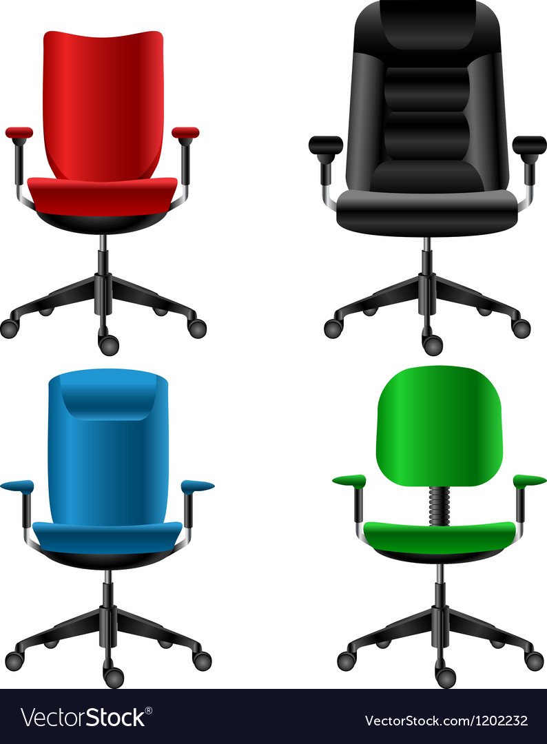 Office chair set vector image