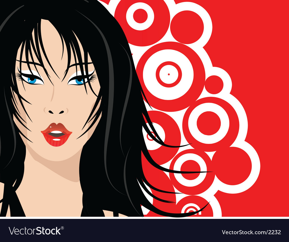 Sexy female face vector image