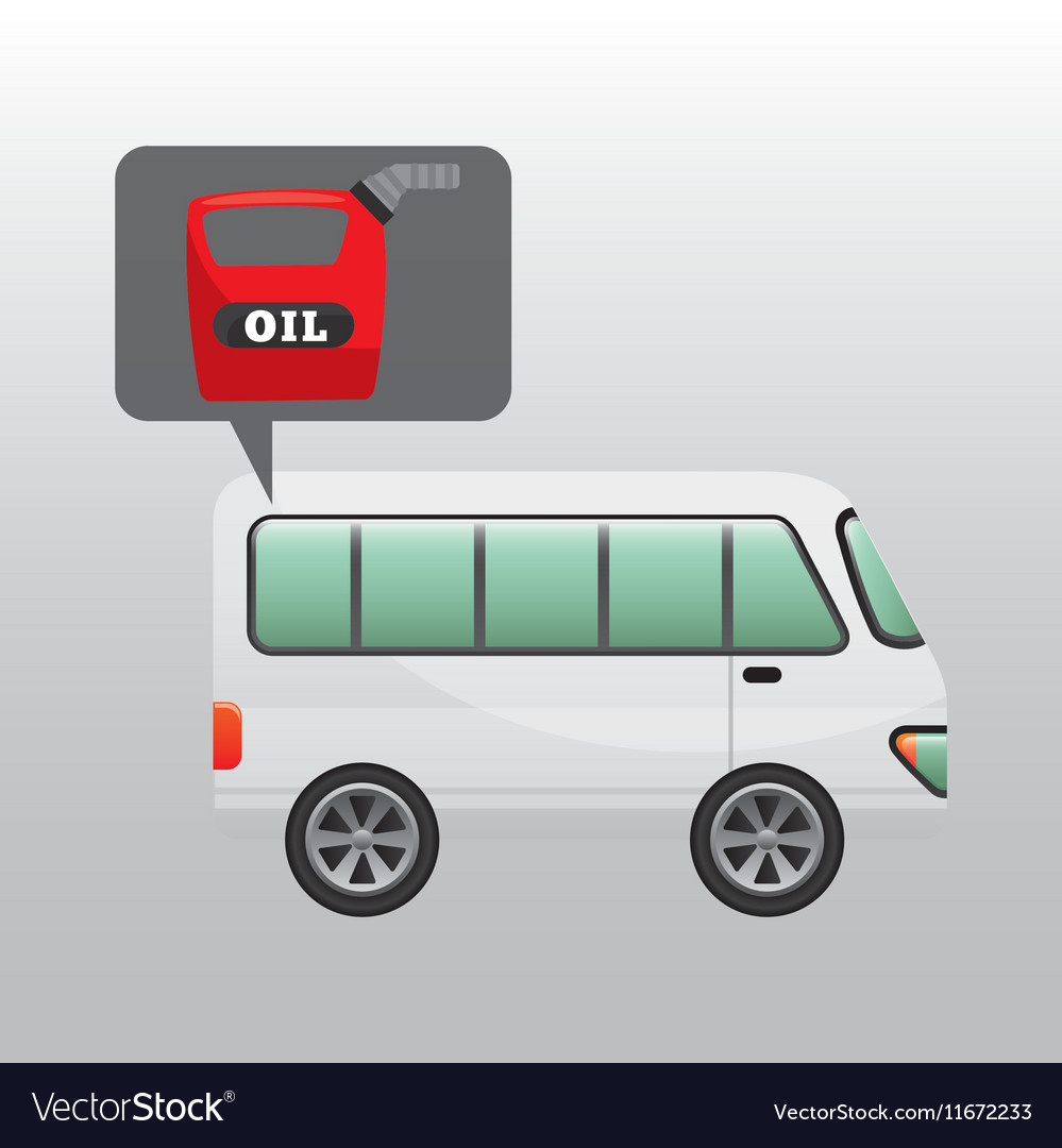 Bus white canister oil vector image