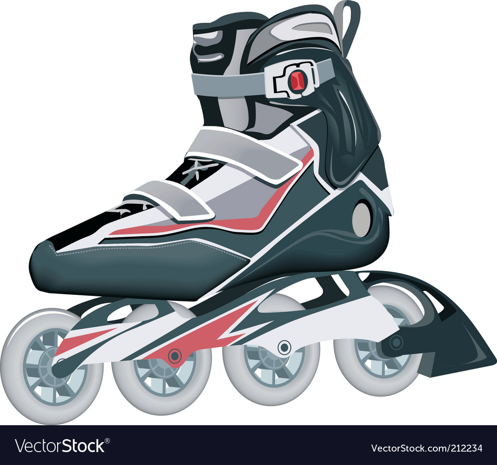 Roller shoes - Roller Shoes Vector Image