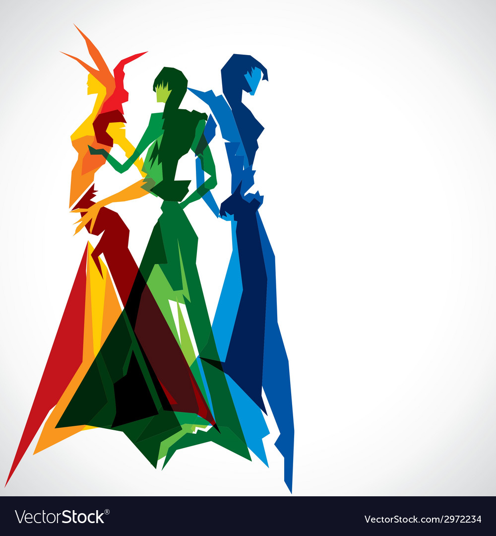 Abstract fashion women vector image
