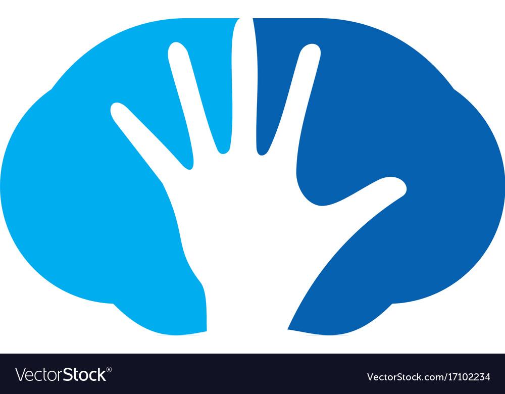 Hand Abstract Stop Logo Royalty Free Vector Image