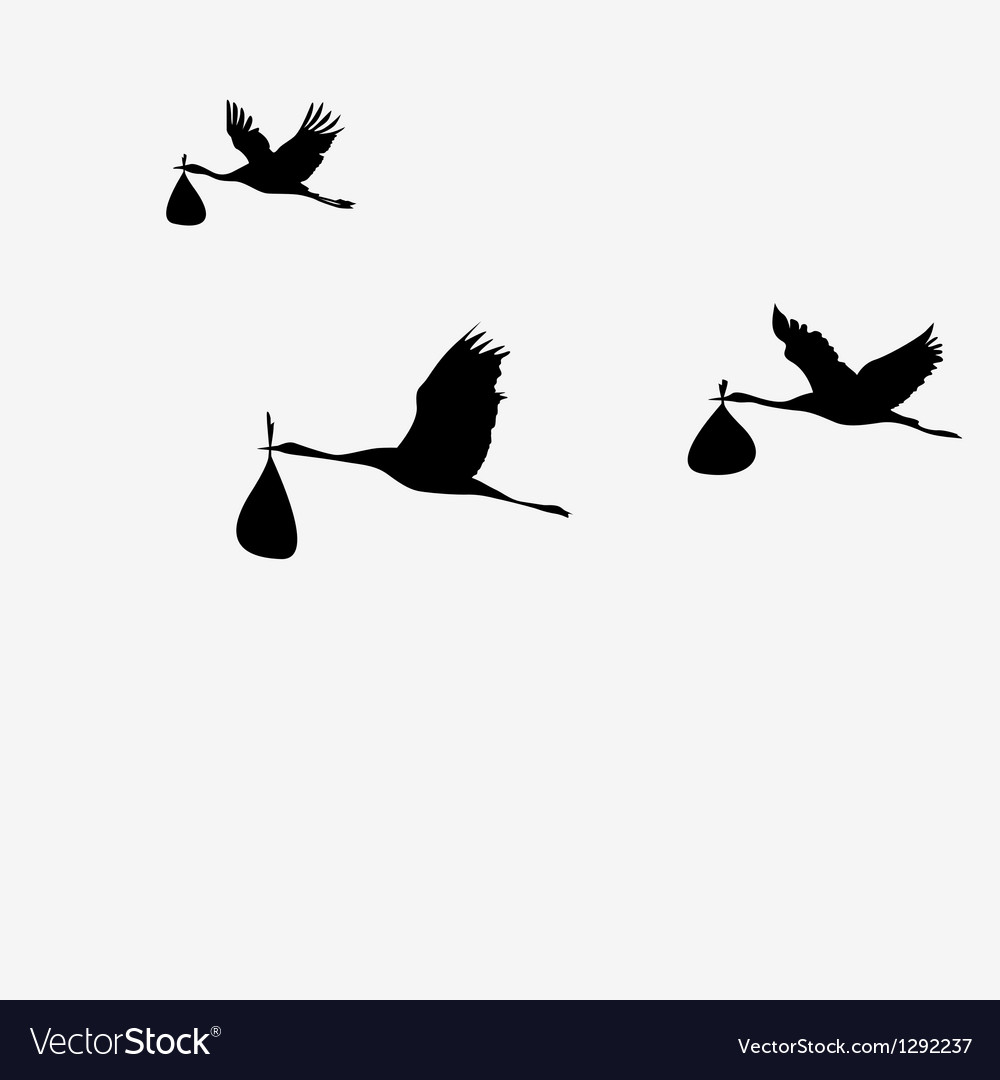 Crane pack with bags vector image