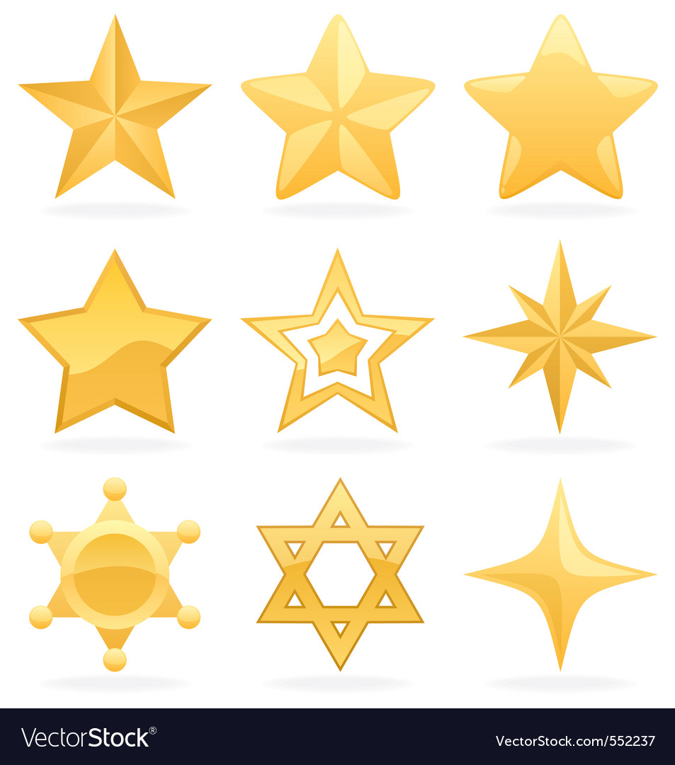 Star icons vector image