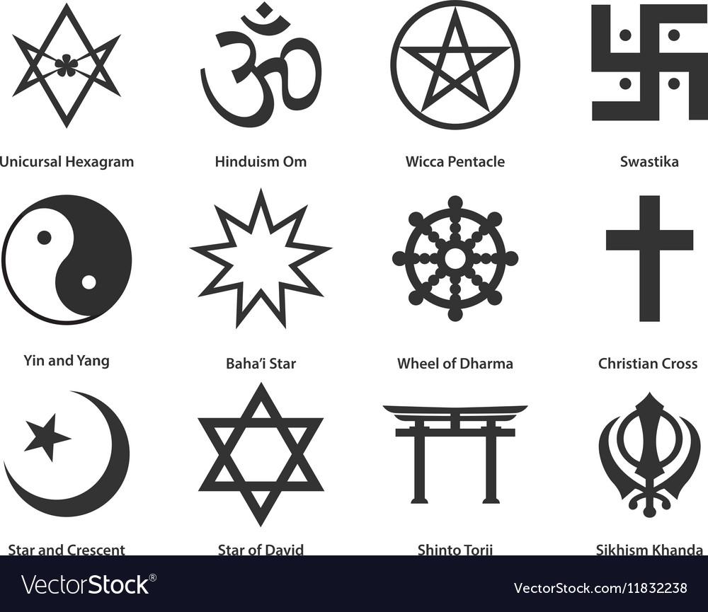 Different types of religious symbols choice image symbol and icon set of world religious symbols royalty free vector icon set of world religious symbols vector biocorpaavc