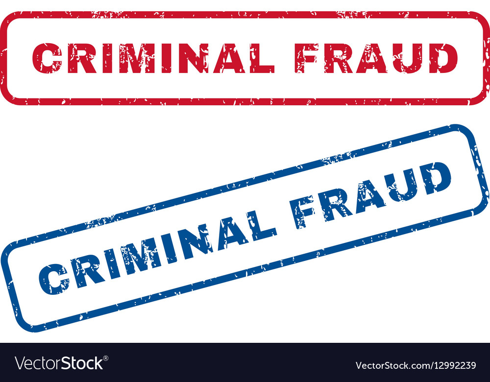 Criminal Fraud Rubber Stamps vector image