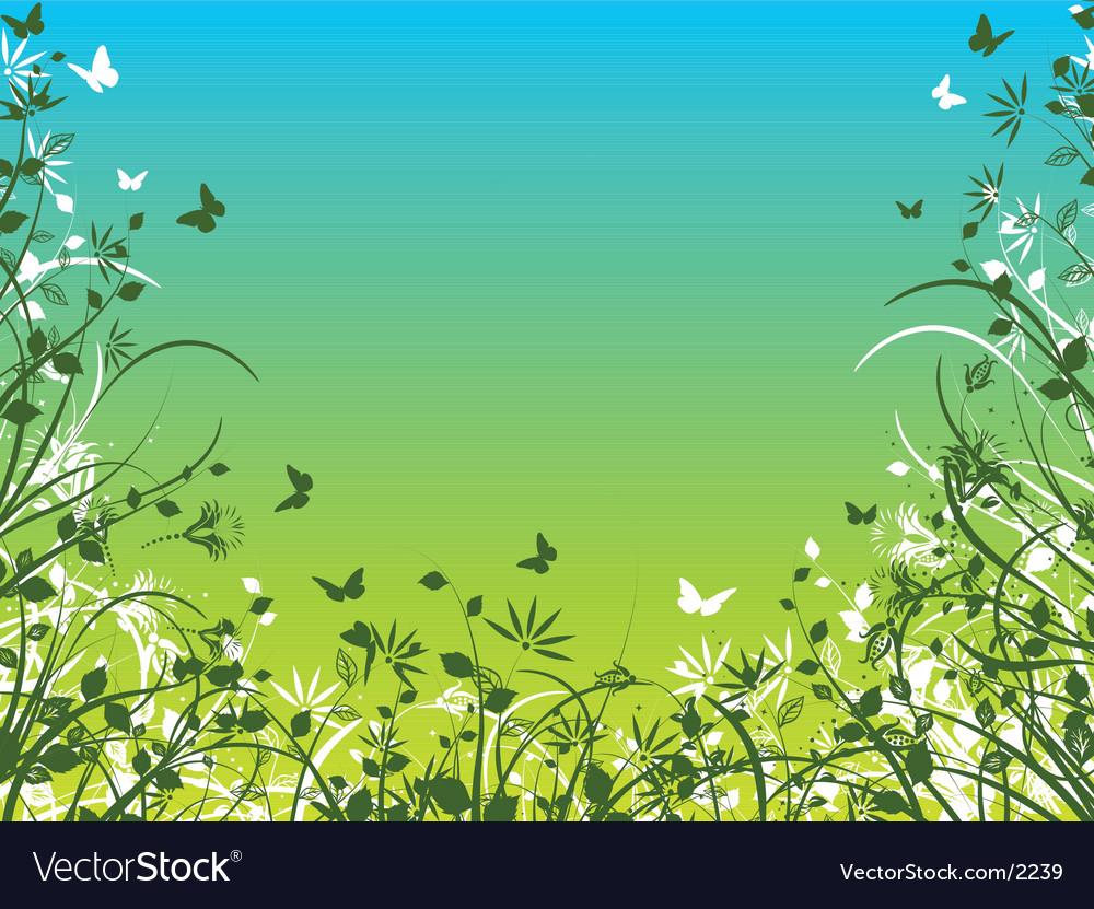 Spring foliage vector image