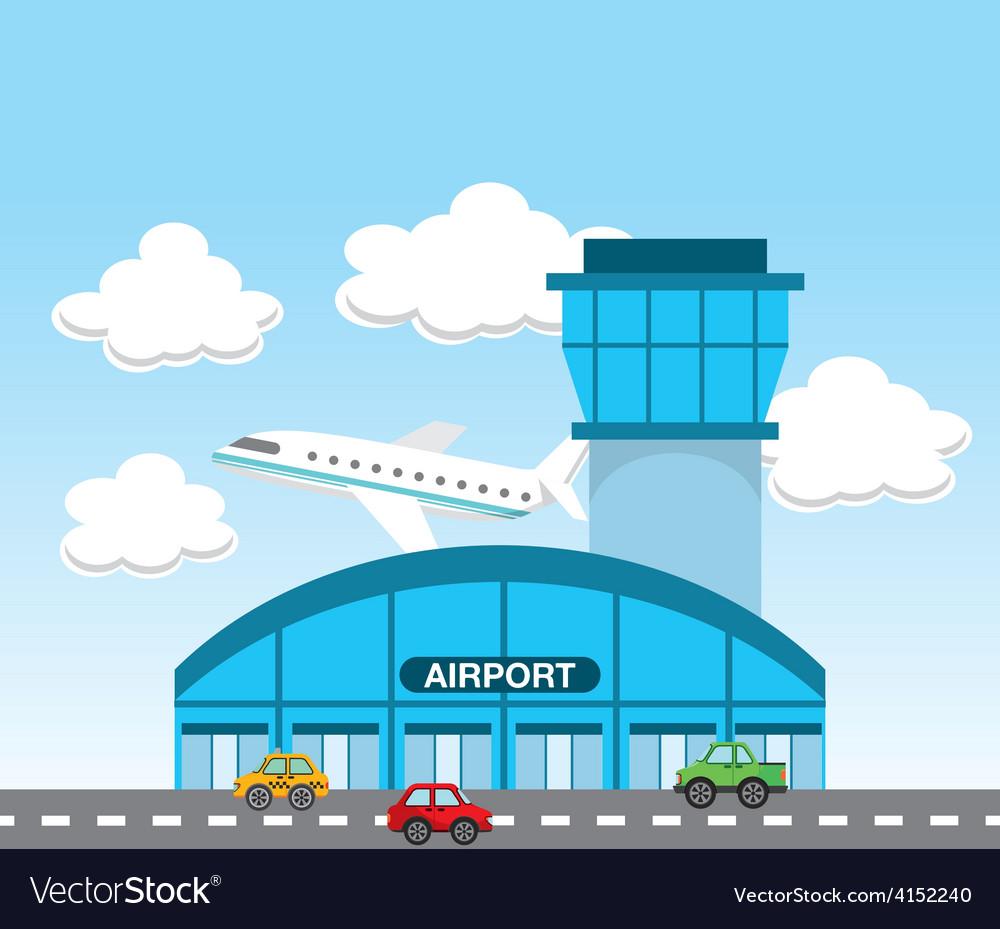 Cartoon Airport Terminal
