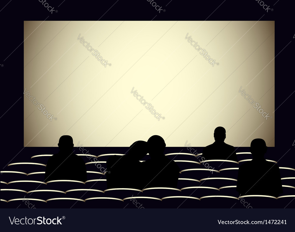 Cinema hall 3 vector image