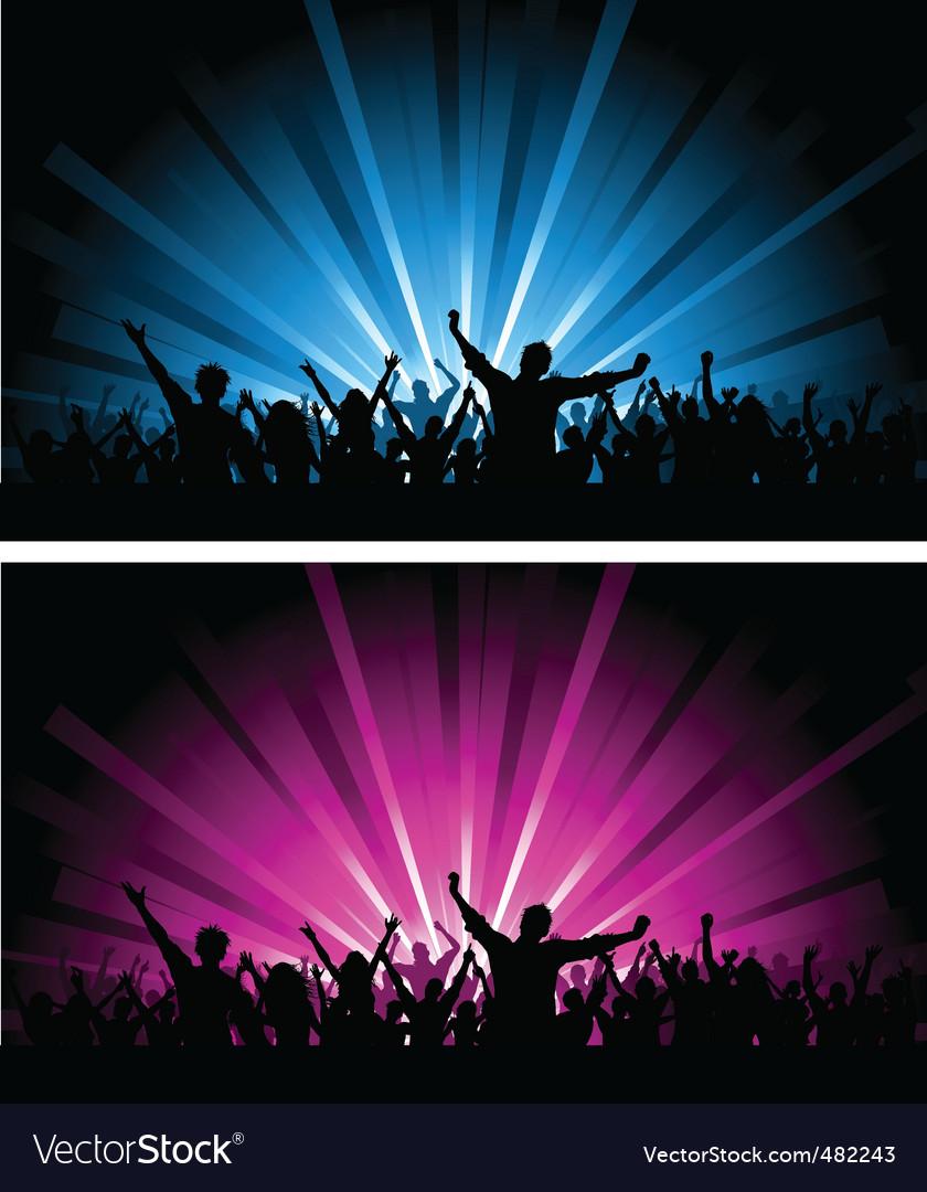 Crowd scenes vector image