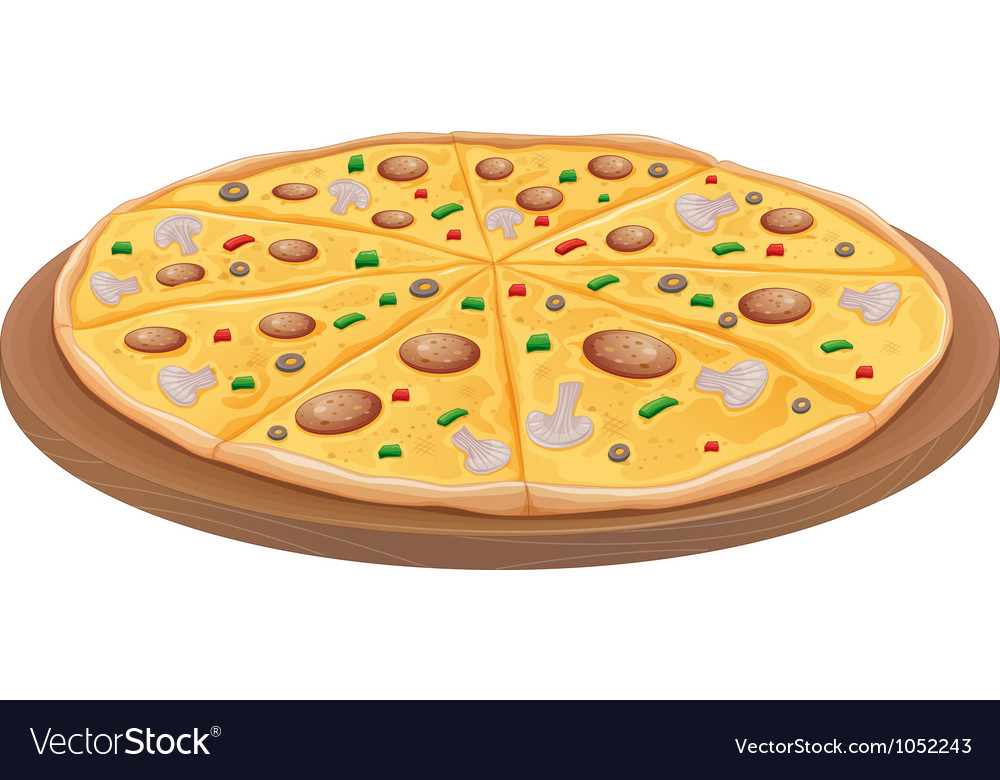 Pizza vector image