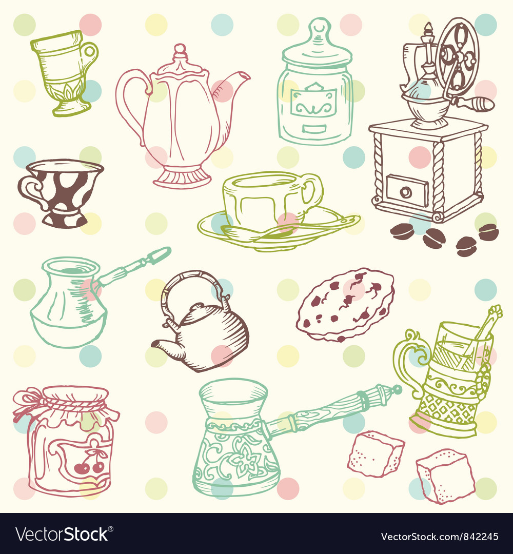 Set of hand drawn doodle vector image