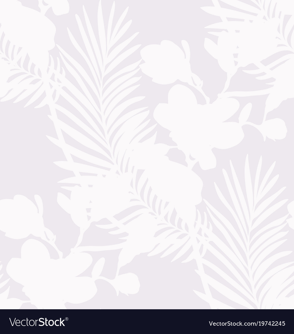 Subtle seamless pattern with drawn flowers plants vector image