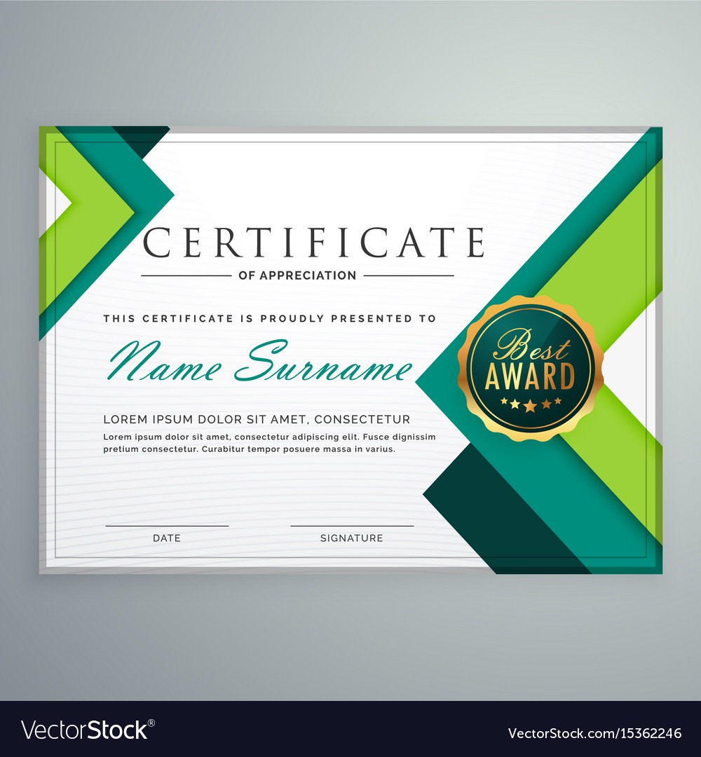 Modern geometric shape certificate design template modern geometric shape certificate design template vector image yadclub Image collections