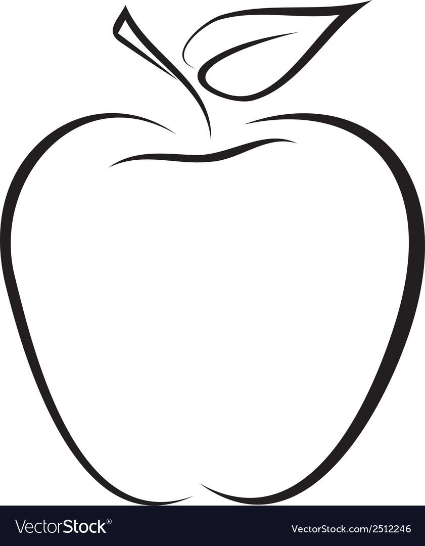 Sketch Of Apple Royalty Free Vector Image
