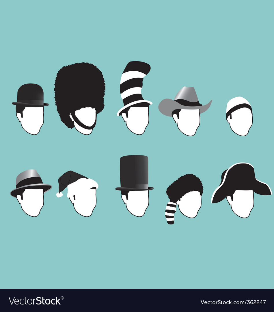 Famous hats vector image