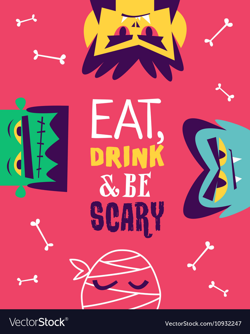 Funny invitation flyer for halloween party vector image stopboris Images