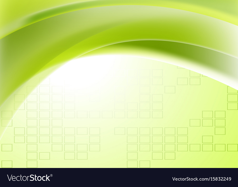Abstract green wavy geometric technical background vector image
