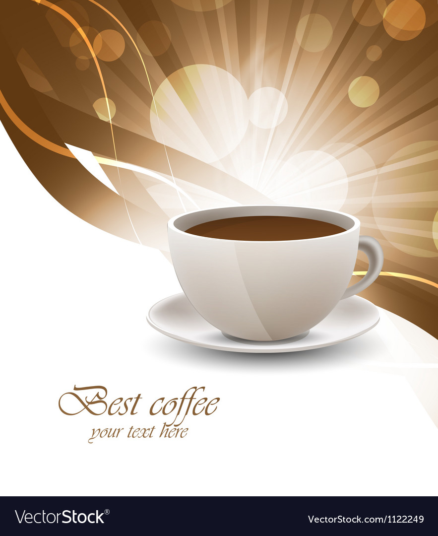 Coffee cup on bright background vector image