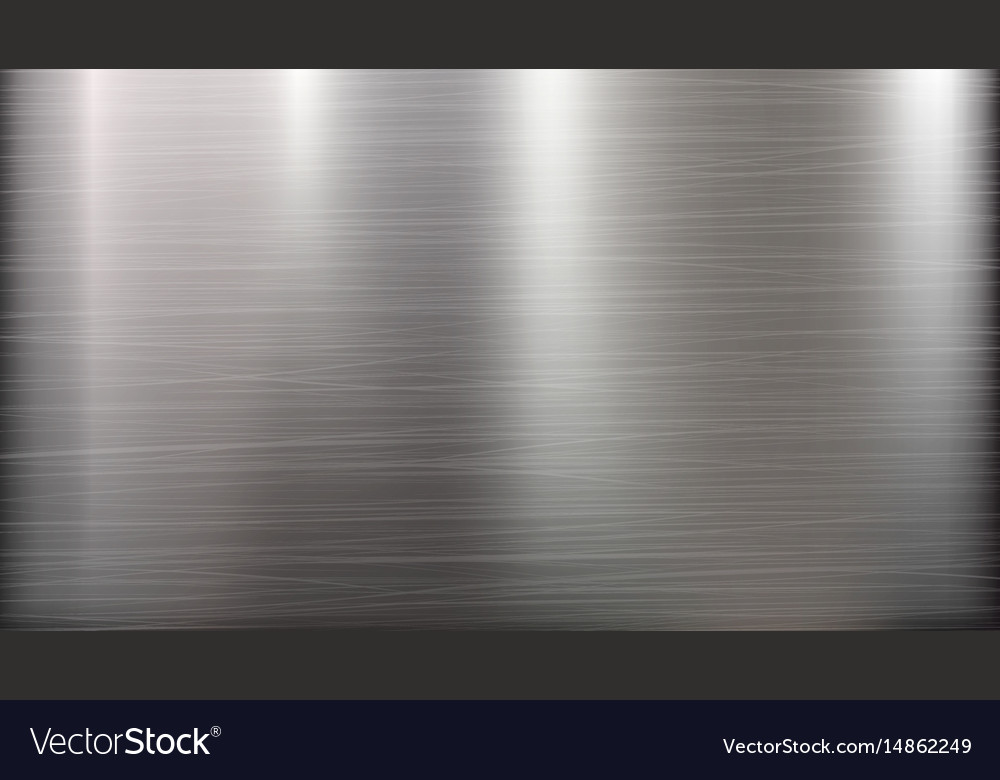 Metal abstract technology background polished vector image