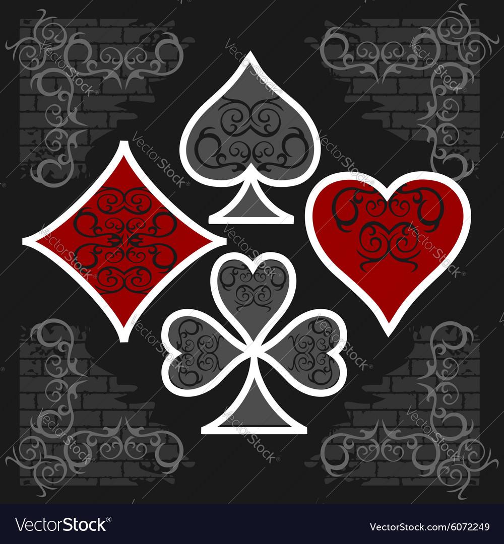 Playing card symbols with shadows set royalty free vector playing card symbols with shadows set vector image biocorpaavc