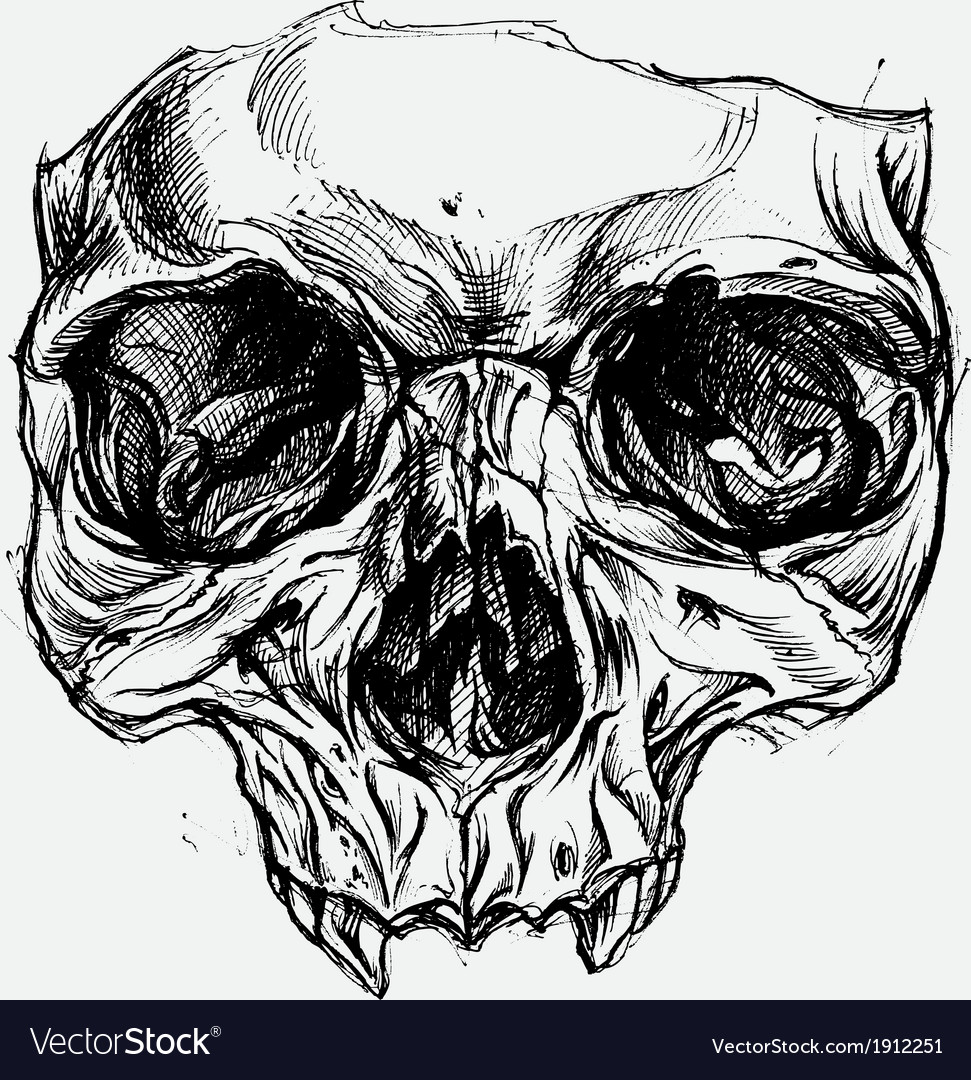 how to draw a skull in autocad