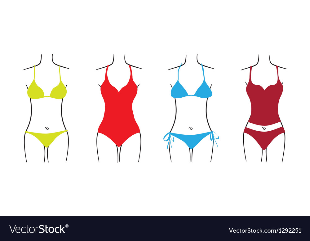 Swimsuit set vector image