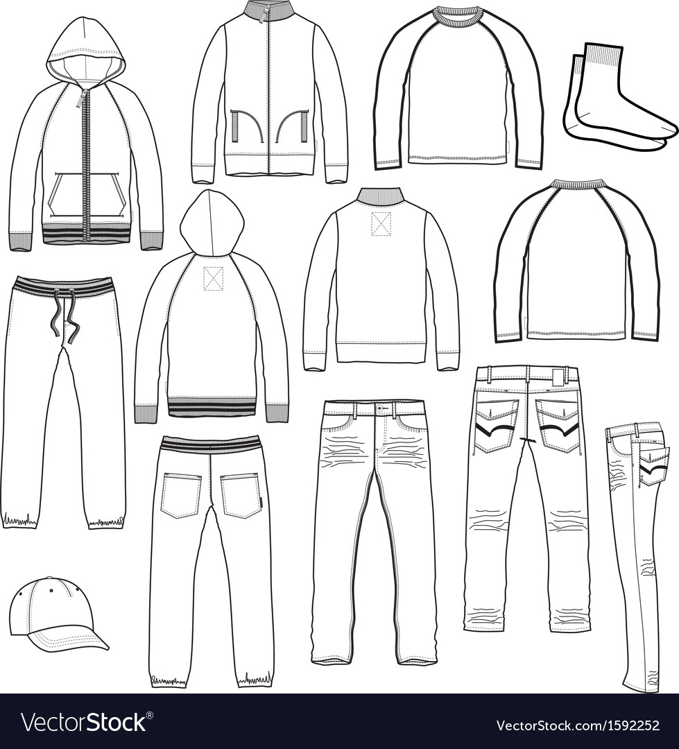 Set for boys vector image