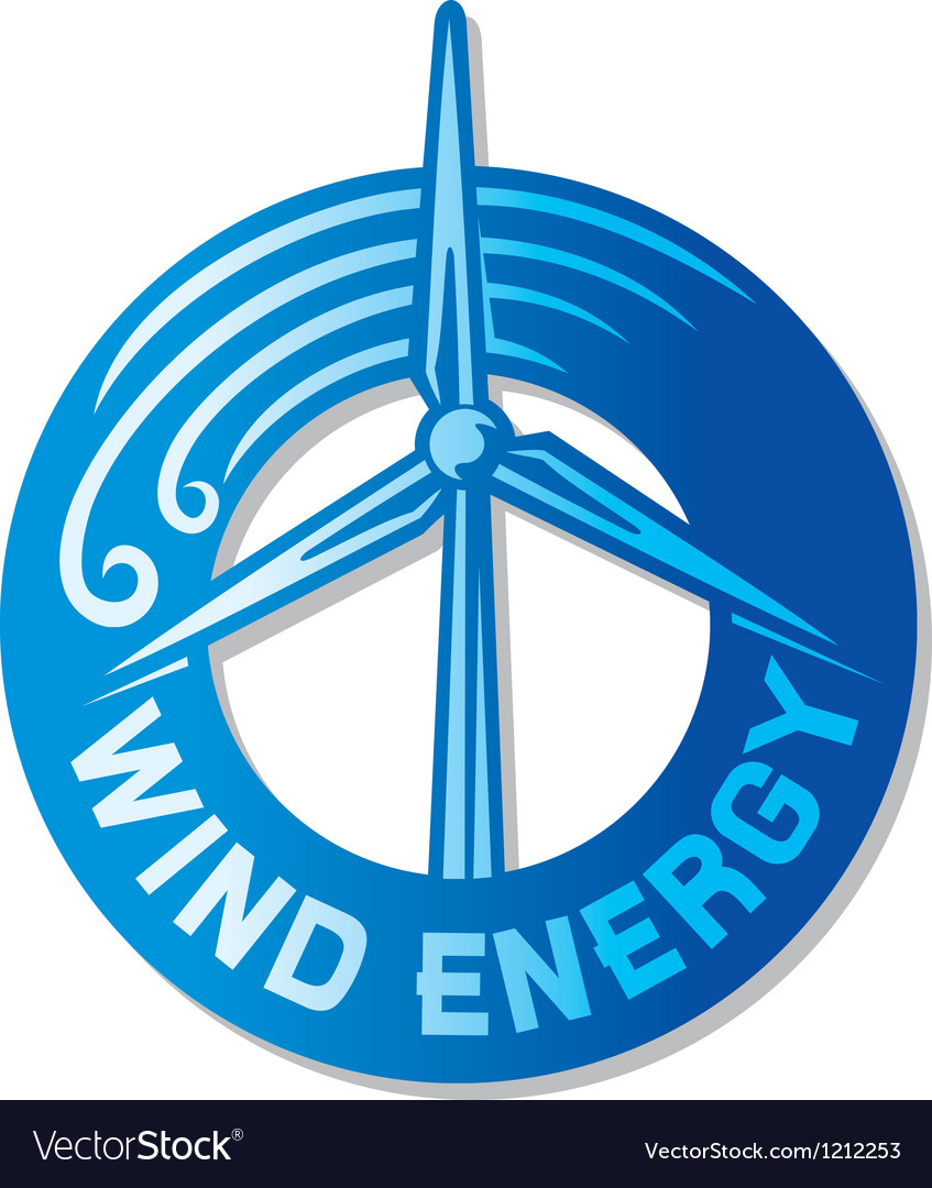 Wind turbine vector image