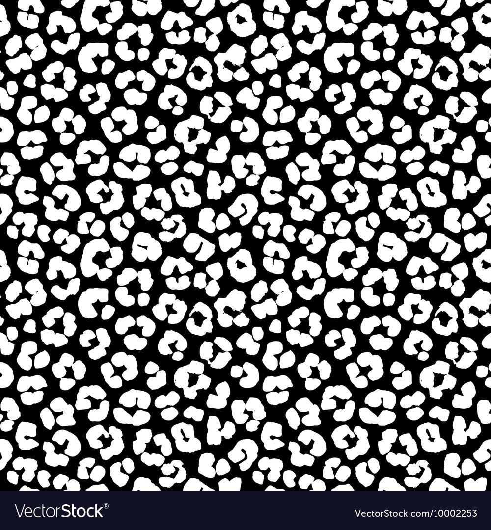 Leopard print seamless background pattern Black vector image
