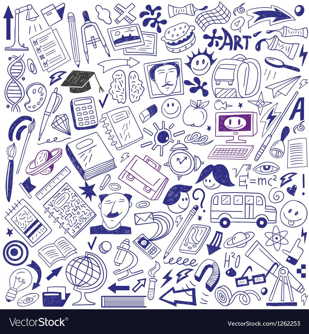 School education - doodles collection vector image