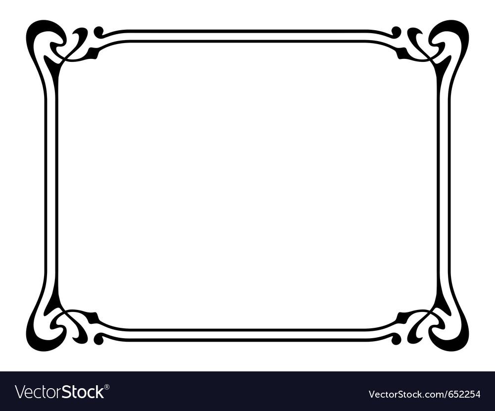 Art nouveau ornamental decorative frame Royalty Free Vector