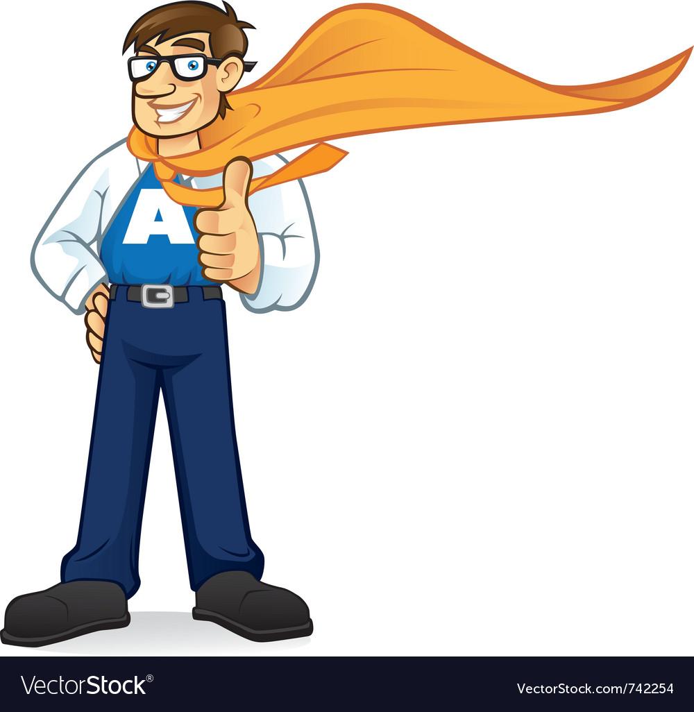 Cartoon superhero geeks vector image