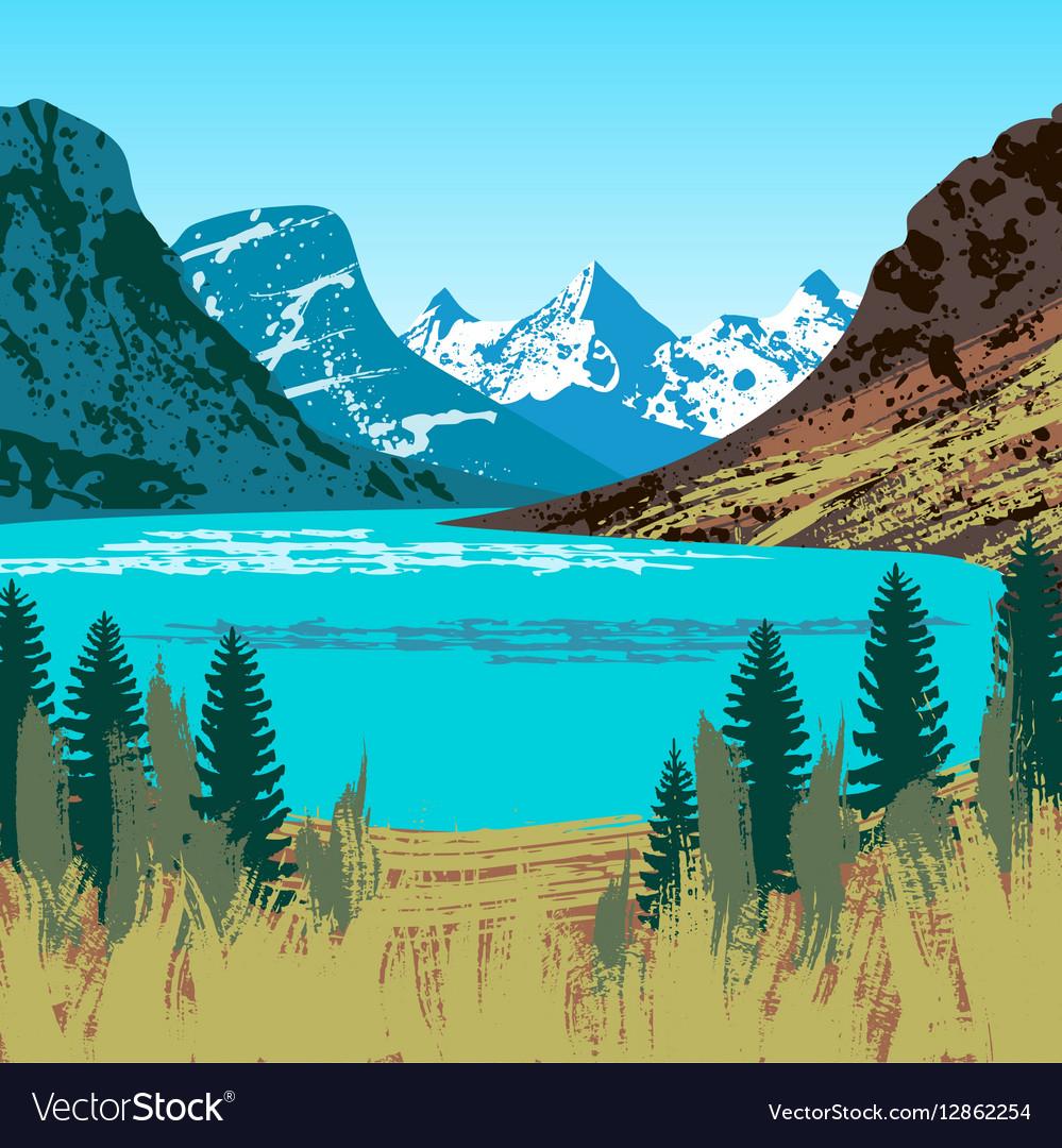 Glacier National Park vector image