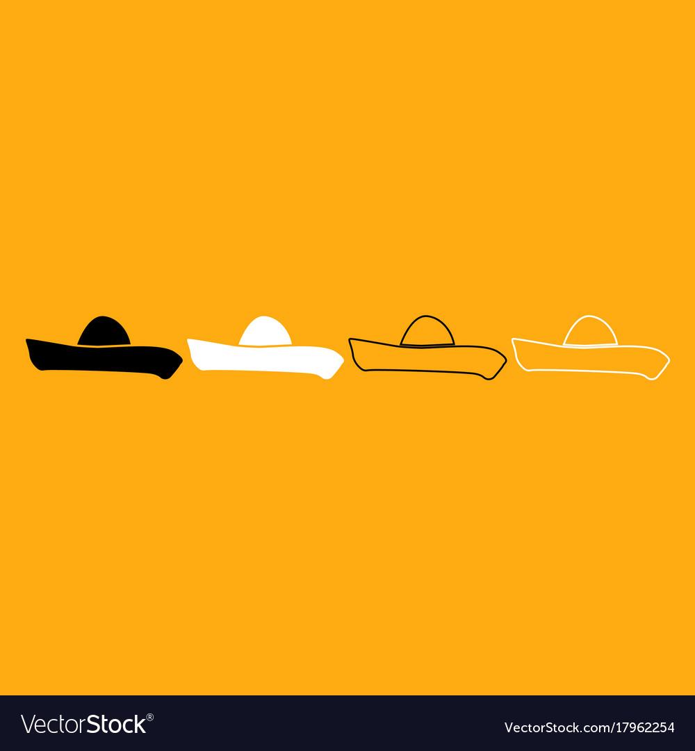 Sombrero it is white icon vector image