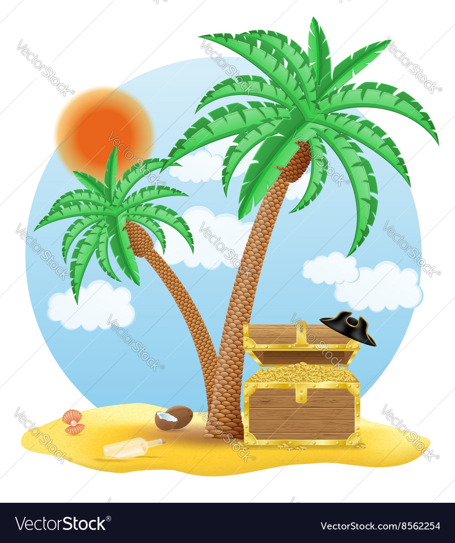 Tropical palm tree 03 vector image